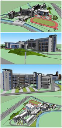 小学建筑SU模型