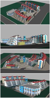 小学校园建筑SU模型