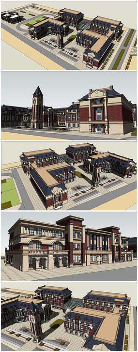 CAD五层中小学教学楼建筑毕设图绘画和幼儿园的区别用小学图片