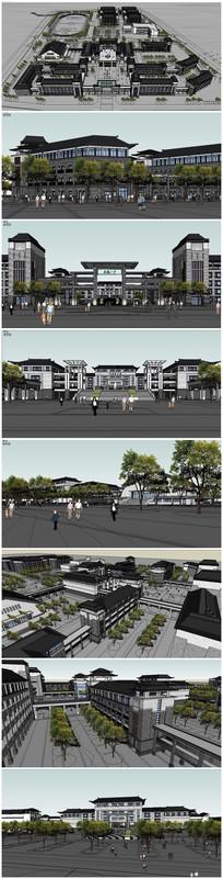 中学建筑SU模型