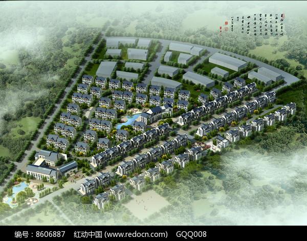 住宅区规划鸟瞰图图片