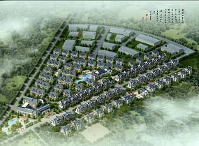 住宅区规划鸟瞰图