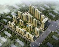 住宅区景观规划设计鸟瞰效果图