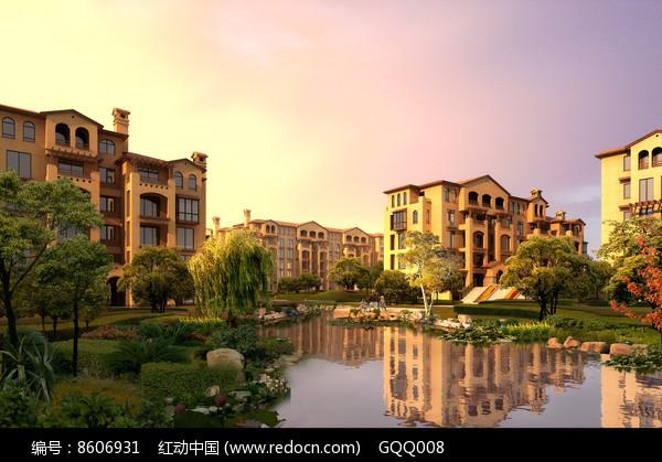 住宅区景观设计效果图图片