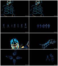 LED荧光震撼动感舞蹈街舞