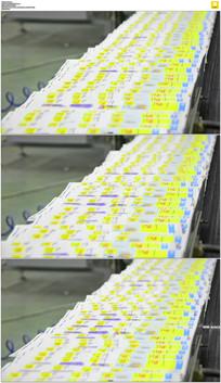报纸印刷车间实拍视频素材