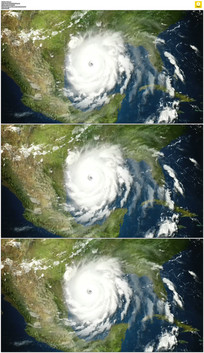 飓风侵袭实拍视频素材