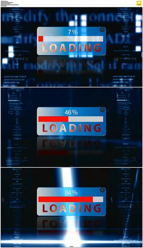 科技数据上传进度条视频素材