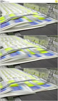 印刷厂报纸实拍视频素材