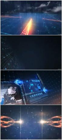 动感光线科技图文动画片头