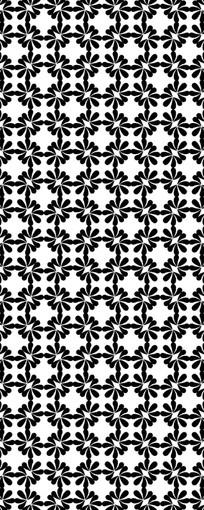 交错黑白花纹图案