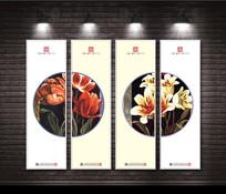 禅境花卉创意装饰画