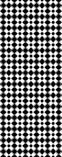 拼贴黑白花纹图案