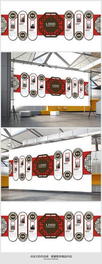 企业文化墙走廊形象设计