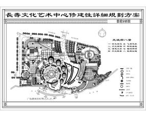 长春长寿广场景观分析图 dwg