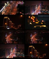 城市夜景车流视频