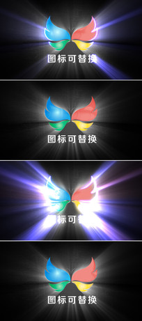 大气光线描边图标特效片头模板