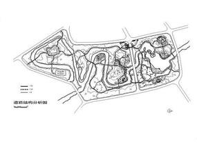 动物形状公园道路结构分析图