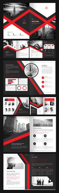 红色商务金融企业文化通用画册