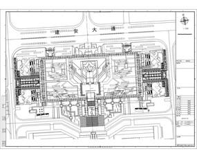 建安长方形式公园竖向设计图