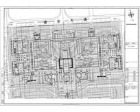 建安长方形式公园网格定位图 dwg