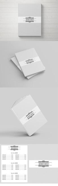 简洁高档中西餐厅菜单封面设计