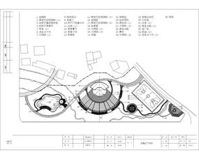 某倒S型公园设施总平面图