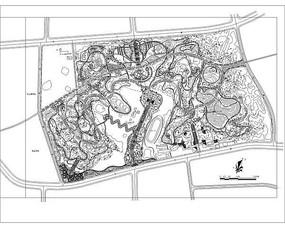 某县城公园景观设计平面图