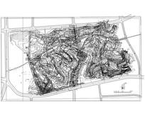 某县城公园景观设计竖向规划
