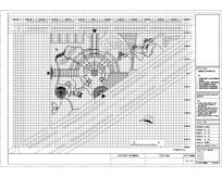 三角公园景观总平面网格放样图