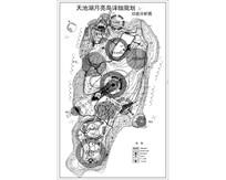 天池湖月亮岛公园功能分析图 dwg