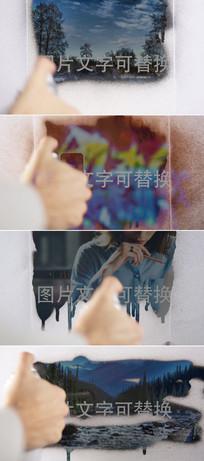 涂鸦效果图文展示模板