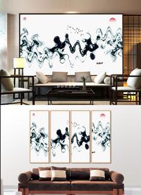 新中式水墨山水画装饰画