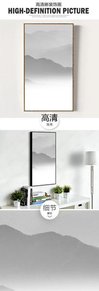 新中式水墨山水时尚装饰画 TIF