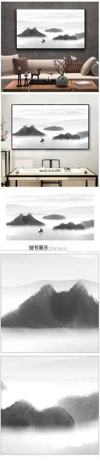 新中式水墨山水装饰画