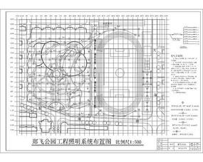 郑飞公园施工照明系统