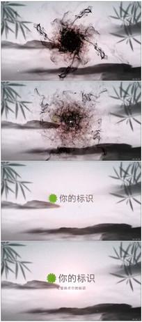 中国风水墨晕染标识展示动画
