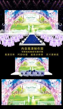 时尚精品婚礼舞台背景 PSD