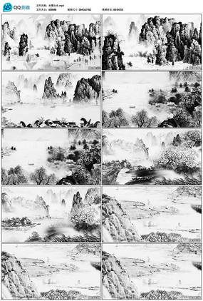 唯美水墨山水中国风视频素材