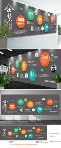 现代科技公司企业文化墙时尚