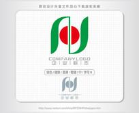 H字母N中字标志logo设计