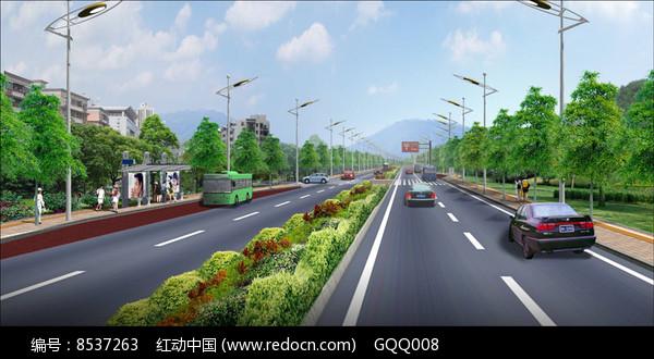 标准段发道路方案效果图图片