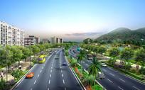 道路景观设计效果图