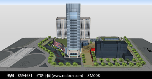 大厦商城模型