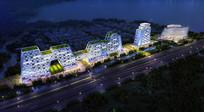 淀山湖建筑夜景效果