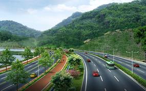 风景区道路绿化带设计 JPG