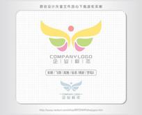 蝴蝶优雅飞翔女性标志logo