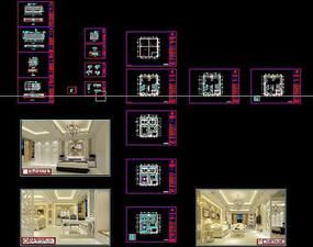 简欧风格室内家装cad设计