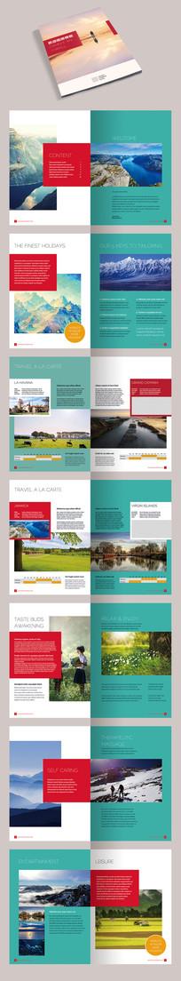 简约大气旅游旅行社画册宣传册