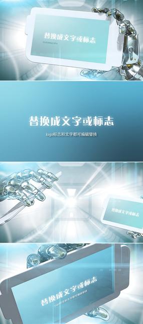 机械手臂logo标志演绎模板